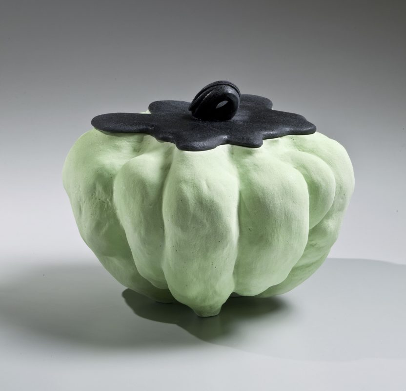 Katsumata Chieko, Japanese, born 1950 Akoda (Pumpkin-shaped) Water Jar, 2015 Matte-glazed stoneware 7 x 9 7/8 x 9 7/8 in. © Katsumata Chieko